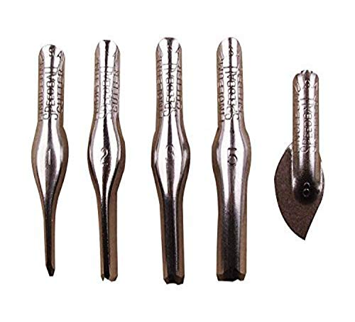 Speedball Linoleum Cutters - 5 Assorted Carving Printmaking Cutter Types, Made in the USA