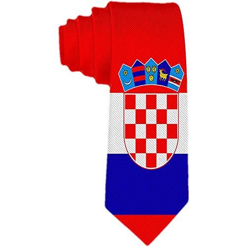 Herren Krawatte Flagge Kroatiens Polyester Seidenkrawatte