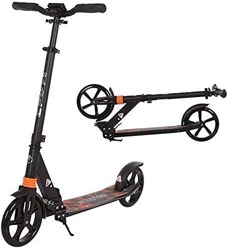 BAIRU monopatín Patinete Big 200mm Wheel Scooter | Scooter de matiz para Adultos Plegables con la Barra Ajustable de Altura y la Cubierta de ensanchamiento, para niños, Adolescentes y Adultos