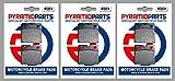 Ducati 600 Pantah TL, SL Juego completo de pastillas de freno delantero y trasero (3 pares)