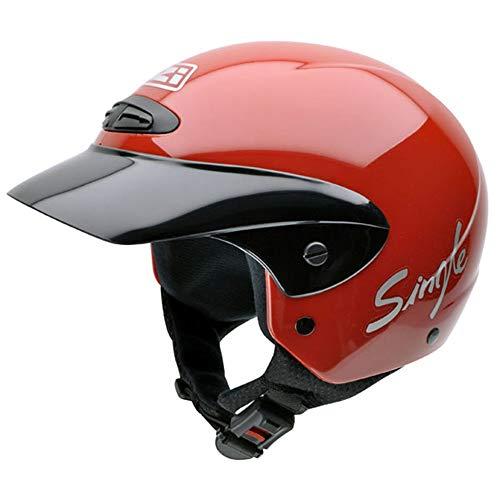 NZI 050139G058 Single II Jr Red Casco de Moto, Rojo, Talla 50-51 (S)