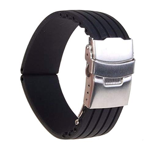 S`good Horlogebandjes 18mm/20mm/22mm/24mm Reloj Hombre Siliconen Rubber Horlogeband Deployment Buckle Waterdichte Band Dameshorloges Accessoires