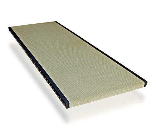 futon-online Tatami Standard japanische Matte Bodenmatte Reisstrohmatte Igusa-Gras, Größe:90 x 180 cm