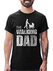 Shirtracer The Walking Dad Herren T-Shirt und Männer Tshirt (XL, Schwarz)