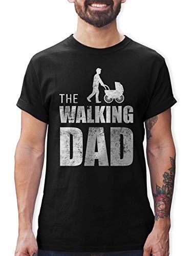 Shirtracer Cadeau d'anniversaire et de fête des pères pour Papa Walking Dad Tshirt pour Homme (Noir, L)