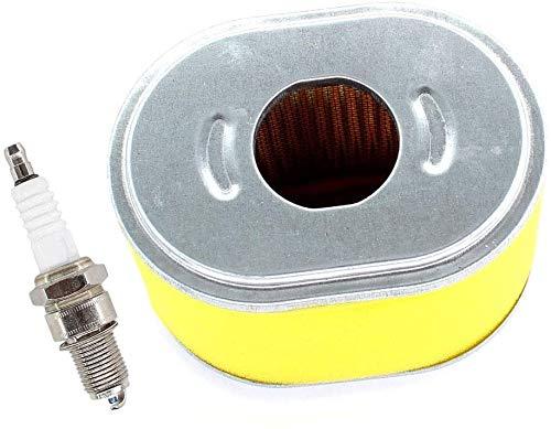 SYCEZHIJIA Piezas de Repuesto para cortacésped Filtro de Aire y bujía adecuados para la Placa vibradora Honda/Lumag RP-1100 Pro RP1100 con Motor de loncina.