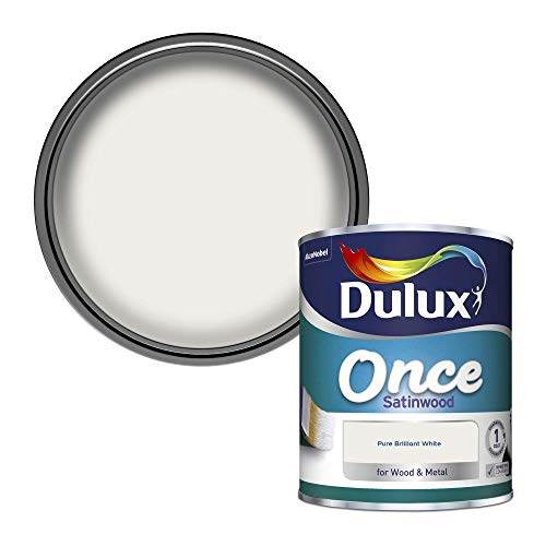 Dulux Once Satinwood Paint for Wood and Metal