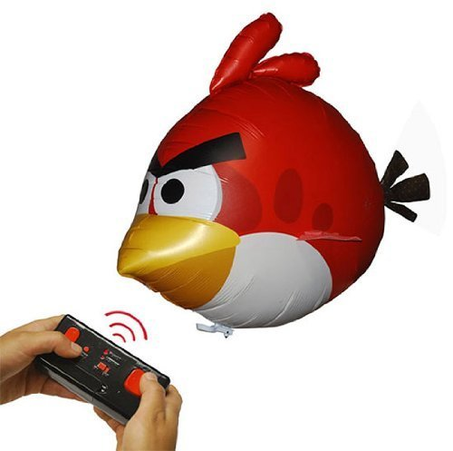 Angry Birds Air Swimmers Turbo - RED Flying Remote Control Balloon Toy Size: 36x28x16 Inflated Balloon, Model: AS010, Toys & Gaems