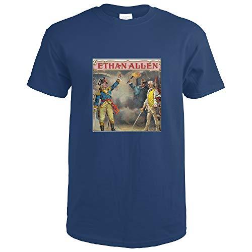 Ethan Allen Brand Cigar Box Label 27448 (Navy Blue T-Shirt X-Large)