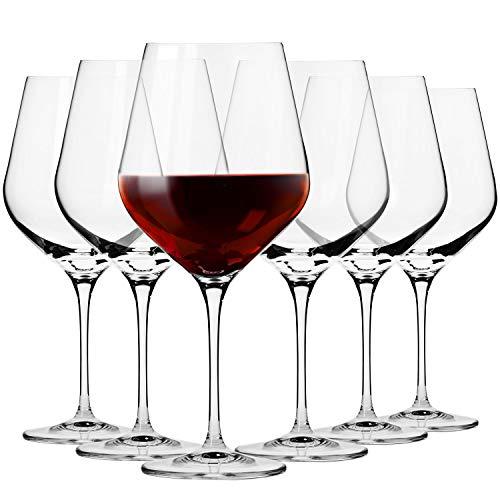 Krosno Große Burgunder Rot-Weingläser | Set von 6 | 860 ML | Splendour Kollektion | Perfekt für zu Hause, Restaurants und Partys | Spülmaschinenfest und Mikrowellengeeignet