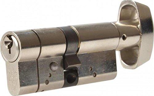 Yale Locks AS3535TPB Cylindre à bouton anti-claquement en laiton poli 35 mm x 35 mm