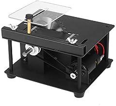 Festnight Sierra de mesa multifuncional Mini cortadora de sierra de escritorio Cortadora eléctrica con hoja de sierra Muela abrasiva Velocidad ajustable 35 mm Profundidad de corte para corte de madera