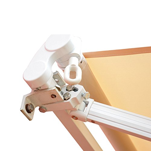 Outsunny® Markise Alu-Markise Aluminium-Gelenkarm-Markise ca. 4,5x3m creme - 2