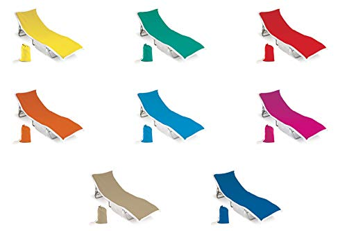 Galileo Casa 2402148 Telo per Lettino Mare con Tasche e Portandumenti, 70x190 cm Unisex-Adulto, Multicolore
