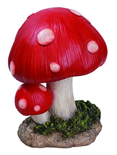 Vivid Arts - Piccolo fungo (BG-TS02-F) decorazione da giardino resistente al gelo, decorazione da...