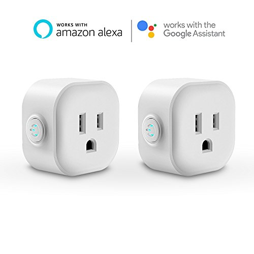 Maxcio WiFi Smart Plug Mini Outlet with (2 Pack), Compatible with Amazon Alexa Echo and Google Home, No Hub Required, 1 Minute to Set Up, Christmas Gift