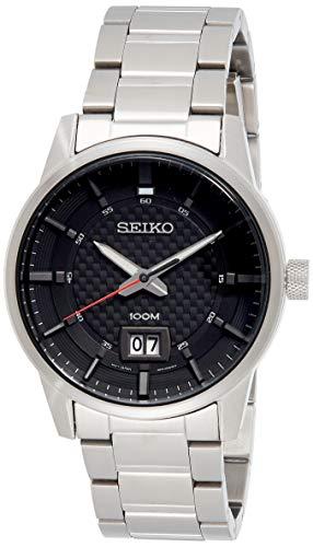 Seiko Quarz Herren-Uhr Edelstahl mit Metallband SUR269P1