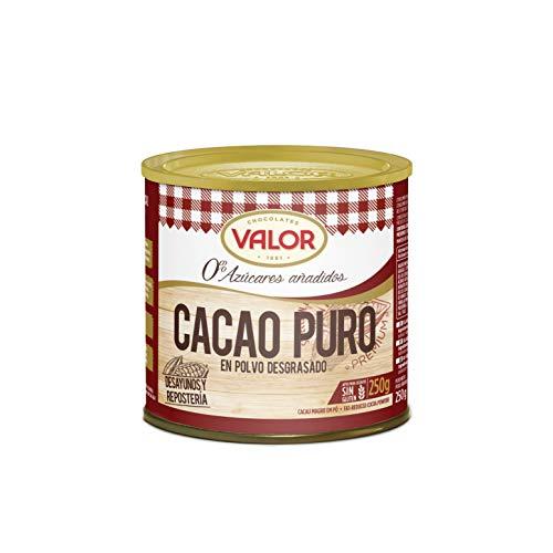 Chocolates Valor Cacao Puro En Polvo, Tamaño Único, Pack de 1
