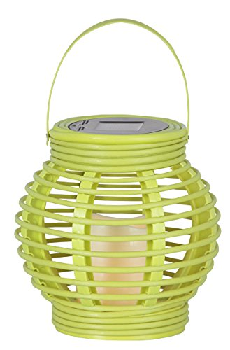 "LED-Solar-Laterne \""Lantern\"", 1 warm light LED, Farbe : limonengrün ca. 16 x 16 cm, mit Solarpanel, incl. Akku, Outdoor"