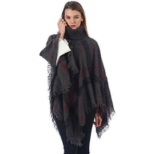 TaoRan nieuwe dames van plaidsjaal breien het casual rooster van de herfst- en winterdikke Europese en Amerikaanse manier warm.