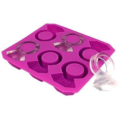 Kikkerland Diamond Ring Silicone Ice Cube Tray
