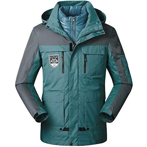 LEIXIN Leren jas Mannen/Vrouwen Warm Ademend Winddicht Waterdicht Wandelen Ski Suit Outdoor Jack, Grootte: XL,Kurkuma