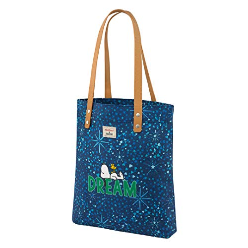 Cath Kidston X Peanuts Snoopy Dream Midnight Stars - Bolsa para la compra, color azul marino