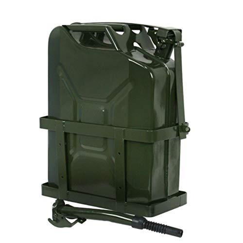 Tinkertory 5 Gallon 20L Gas Diesel Fuel Steel Can Green Holder