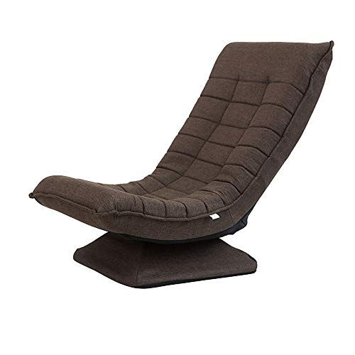 Home Lazy Drehstuhl Schaukelstuhl Liegesofa Stuhl Balkon Single Siesta Stuhl Abnehmbar Und Waschbar (Farbe : Brown)
