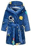 Luxurious Childrens Boys Kids Dressing Gown Plush Snuggle Nightwear Sleepwear Spaceman 2-3 Years