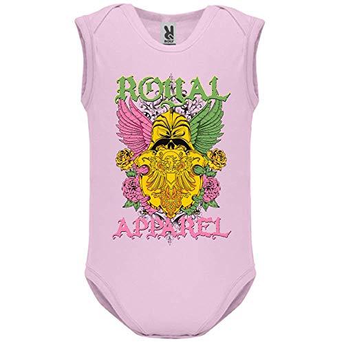 LookMyKase Body bébé - Manche sans - Royal Apparel - Bébé Fille - Rose - 3MOIS
