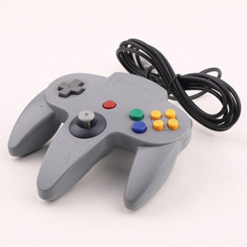 Althemax® N64 Grau Stiel Game Controller Steuerung Remote Pad Joystick Fit für Nintendo 64-System