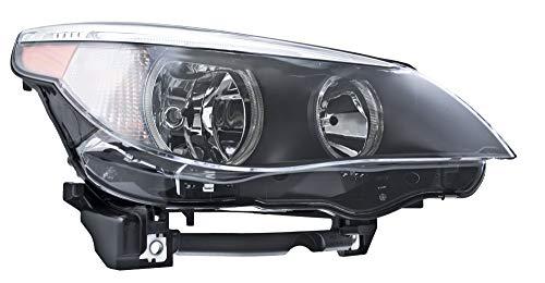 HELLA 008673121 Halogen Headlight Assembly, BMW 5 Series (E60, E62), Passenger Side