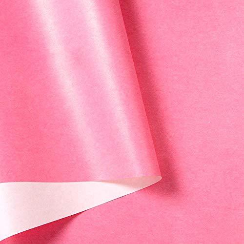 Puur kleurbehang niet zelfklevend spiegellicht luxe eenvoudige slaapkamer woonkamer Hotel Glitter Pink behang roze