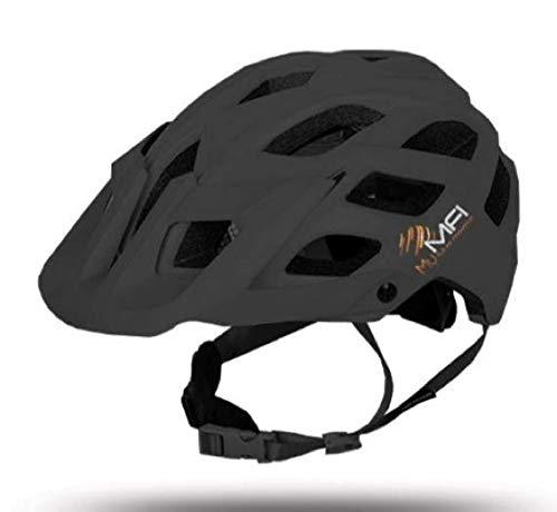MFI Explorer - Casco Bici Bluetooth Ideale per Mountanbike (Black, Large)