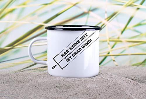 Enamel Mug 10oz Metal Camp Mug Enamel Mug Kitesurfing» Wind «