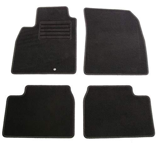AD Tuning HG13958 Velours Fußmatten Set (4-teilig) Schwarz Passform Autoteppiche