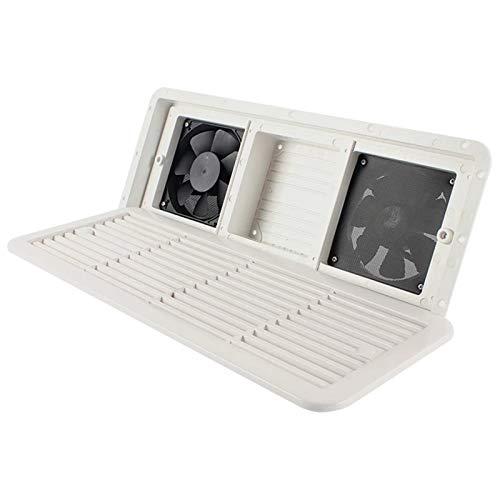 Xiaolizi Ventilador de ventilación VENTILACIÓN DE RV Camper 12V para RV Trailer Caravan Air Aire OUTELLE ABRAMENTE Blanco