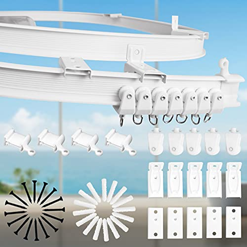 Faffooz 5 Metros Flexible Riel Cortina, Montaje En Techo Para Riel De Cortina Con Sistema De Cortina,pista De Cortina De Rv,para Cortinas,separador De Ambientes