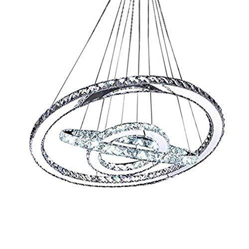DJY-JY Pendelleuchten, moderne Kristall kreativen Edelstahl-Ring Drei Ring Industrie Wind amerikanische Kronleuchter