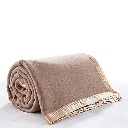 GaoF Manta de Lana Artificial 100% cálida de Estilo Militar para Ropa de Cama, sofá, Camping, Mantas de Lana Artificial de Lujo de Doble Cara como una Capa Extra cálida en su Cama