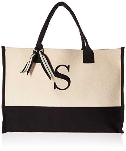 Mud Pie Initial Canvas Tote Bags (S)