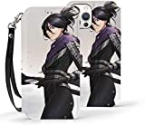 Étui portefeuille pour iPhone 12 Pro - Anime One Punch Man Sonic - Fonction béquille - Dragonne -...
