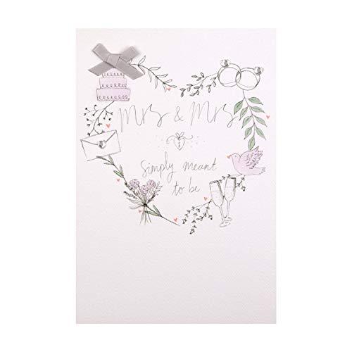 Hallmark Carte de félicitations de mariage avec gemmes et rubans