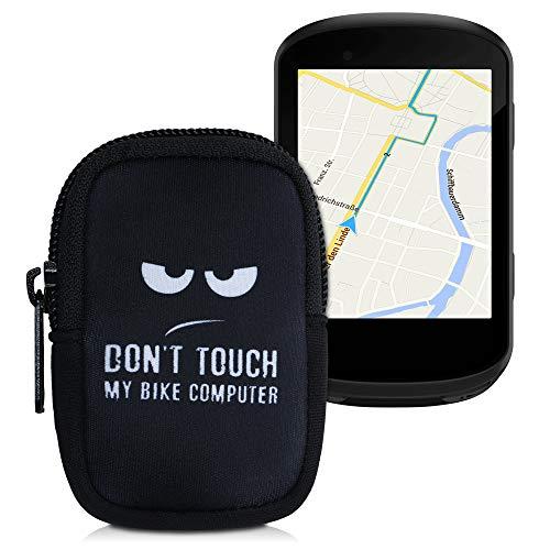 kwmobile Housse Compatible avec Garmin Edge 530/830 - Sacoche de Protection pour GPS Vélos en Néoprène - Don't Touch 8 Blanc-Noir