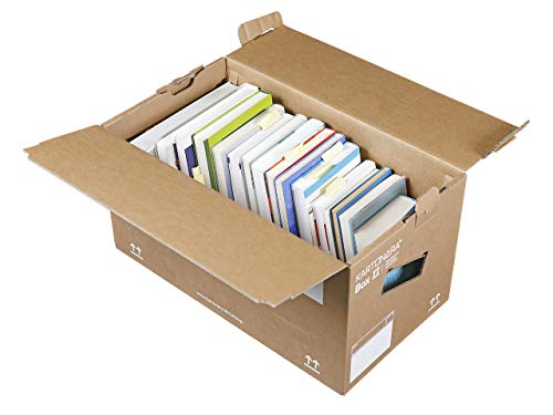 15 Stück Profi Bücherkartons KARTONARA Box L | Umzugskartons für Bücher 45kg