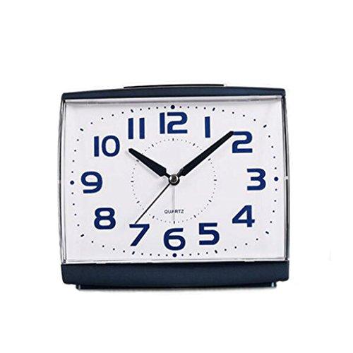 XT Fashion creatieve stil alarm clock New vierkante wekker Simple luie snooze snooze wekker Student mute bureauklok (Color : White)