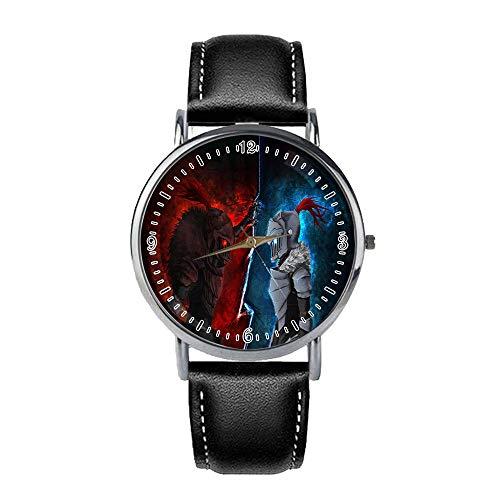 Goblin Slayer Reloj de la vendimia bolsillo del cuarzo del reloj clásico árabe numeral Escala con la cadena de reloj de bolsillo mecánico del reloj de bolsillo pendiente de cuarzo reloj de regalo de v