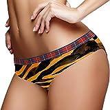 Stretch Print Hipster Bragas De Las Mujeres Bragas Bikini Panty Señoras Ropa Interior S Negro Marrón Rayas, multicolor, XL