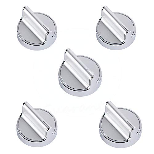 Lifetime Appliance 5 x W10594481 Knob Compatible with Whirlpool Stove/Range